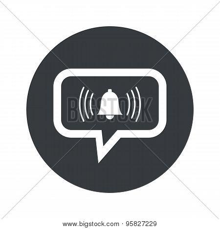 Round alarm dialog icon