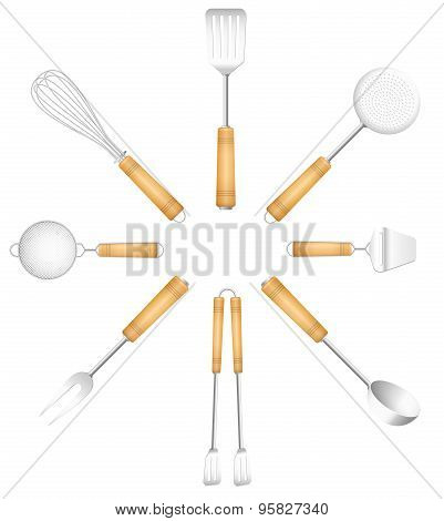 Kitchen Tools Cutlery Circle Sun