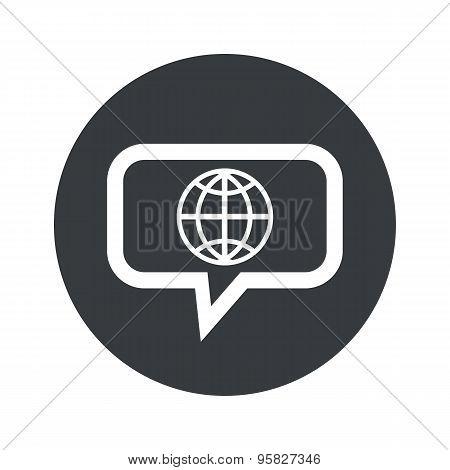 Round globe dialog icon