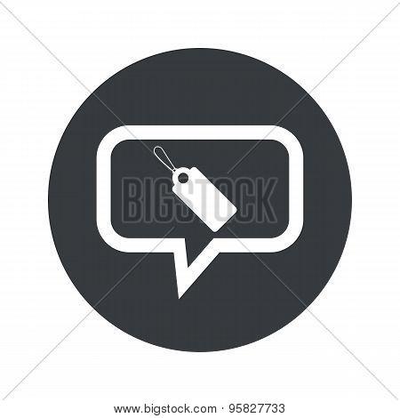 Round string tag dialog icon
