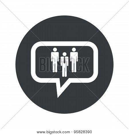 Round work group dialog icon