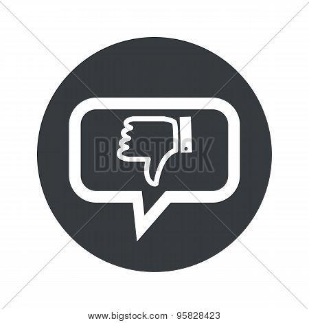 Round dislike dialog icon
