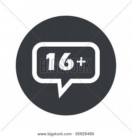 Round 16 plus dialog icon