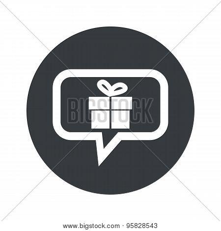Round gift dialog icon