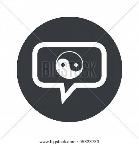 Round ying yang dialog icon