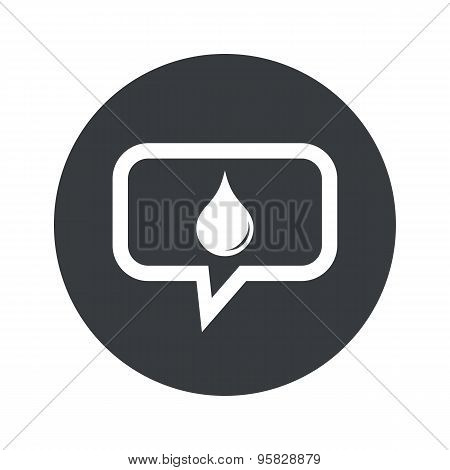 Round water drop dialog icon