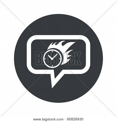 Round burning time dialog icon