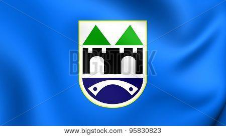 Flag Of Sarajevo, Bosnia And Herzegovina.