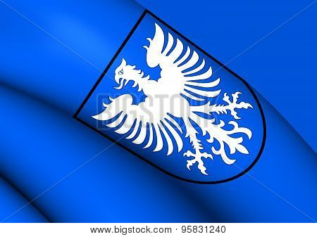Flag Of Schweinfurt, Germany.