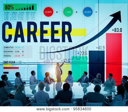 Career Employment Data Analysis Recruitment Concept