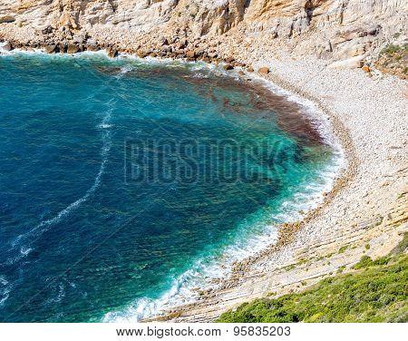 Rocky Beach In Bay