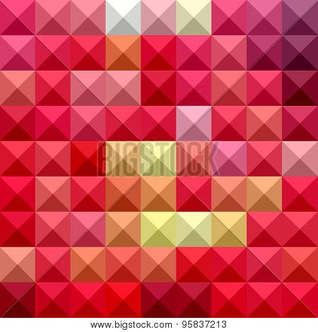 Electric Crimson Red Abstract Low Polygon Background