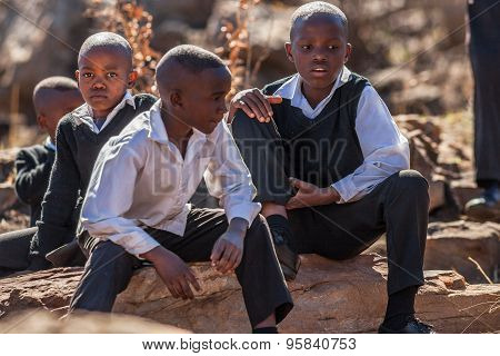 African little boys