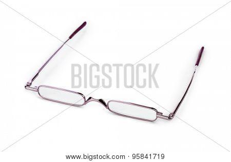 Stylish glasses for reading isolated on white background