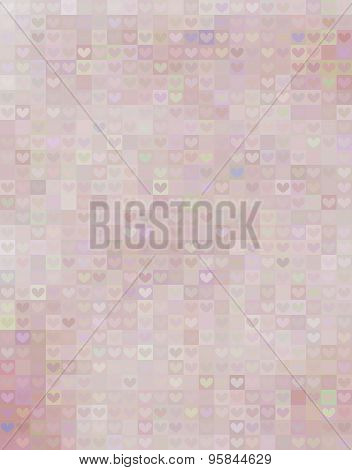 Beautiful Heart Shape Pattern In Pink Spectrum
