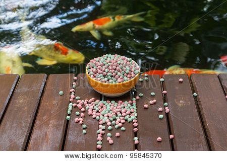Koi Food And Koi Pond