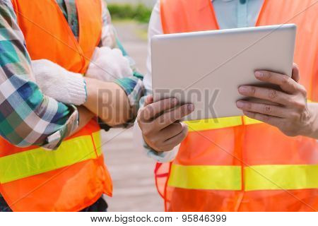 Technology and construction concept