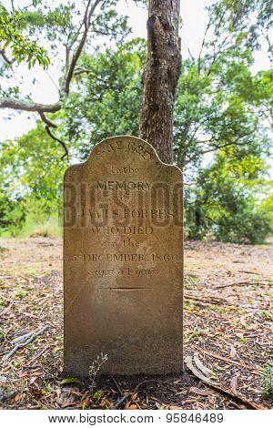 Port Arthur gravestones