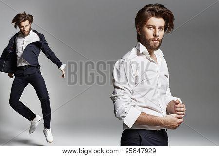 Elegant man with beard