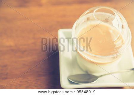 Caramel Cake ( Filtered image processed vintage effect. )