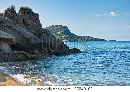 Sea rocks at early morning in Sithonia, Chalkidiki