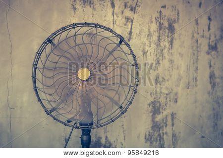 Vintage electric fan ( Filtered image processed vintage effect. )