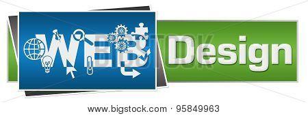 Web Design Blue Green Horizontal