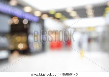 Duty free shops in airport - defocused background