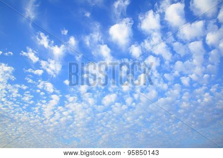 Evening sky with lots small clouds - natural background