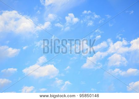 Evening sky with light clouds - natural background