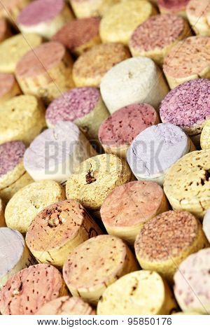 Butt ends of wine corks. Shallow DOF!