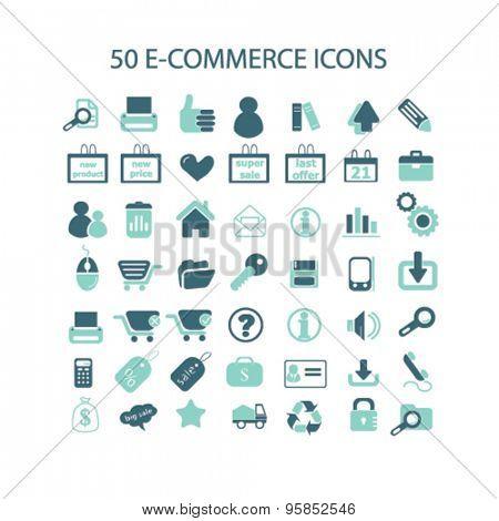 e-commerce icons set, vector