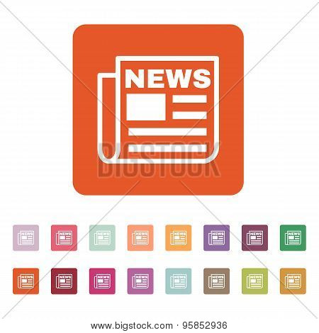 The News Icon. Newspaper Symbol. Flat