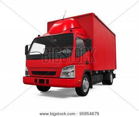 Red Delivery Van
