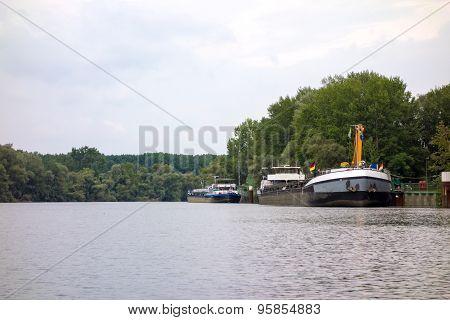 Ships On The Rhine