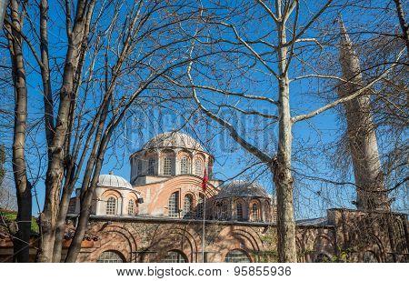 San Salvador de Cora church behind trees, Istanbul