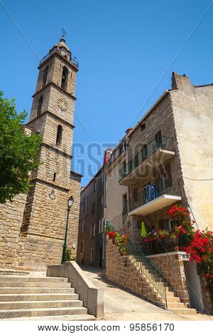 Cathedral Of Sartene, South Corsica, France