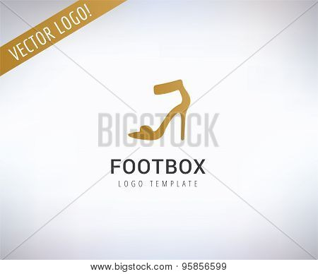 Shoe vector logo. Fashion, shopping and sale symbol. Stock design element.