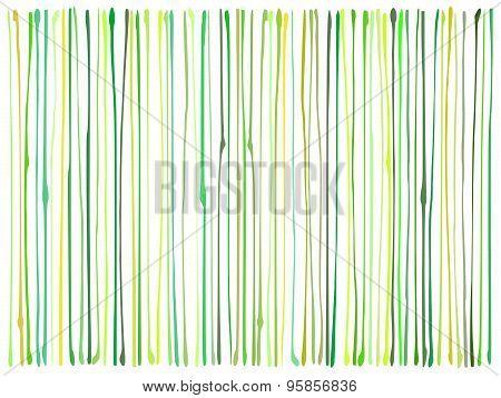 Liquid Organic Green Yellow Lines Pattern Over White