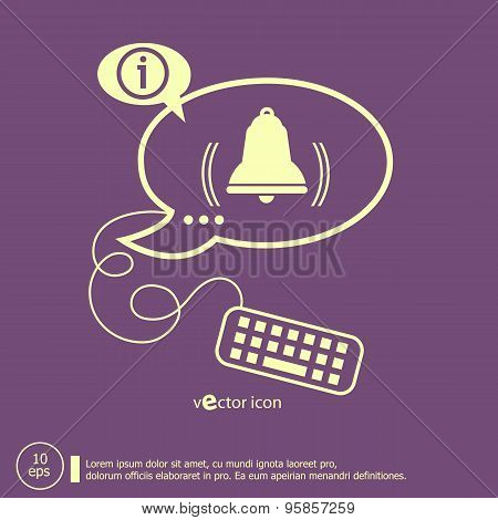 Bell Icon And Keyboard Design Elements