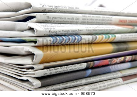 Pile Of Newspaper