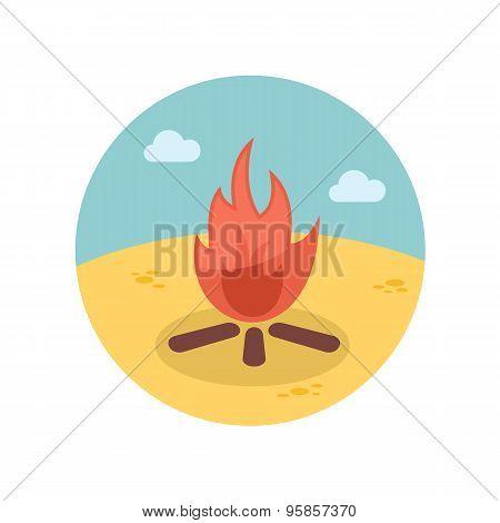 Bonfire Flat Icon