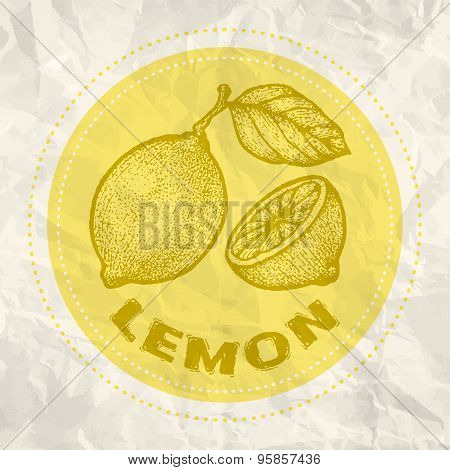 Vintage logo of lemon