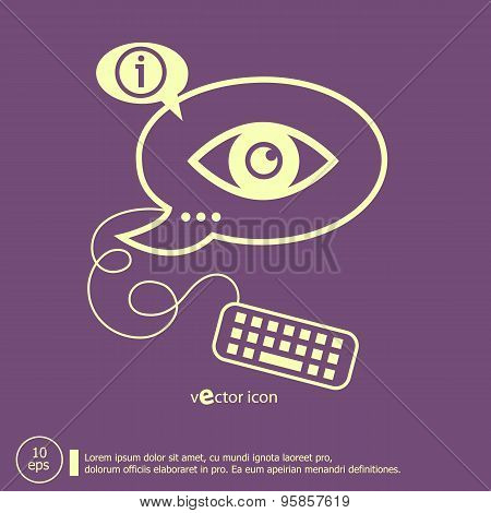 Eye  Icon And Keyboard Design Elements