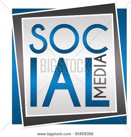 Social Media Blue Grey Block