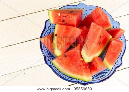 Water-melon In A Glass Vase