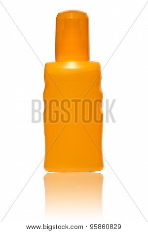Pump Spray Bottle With Suntan Lotion