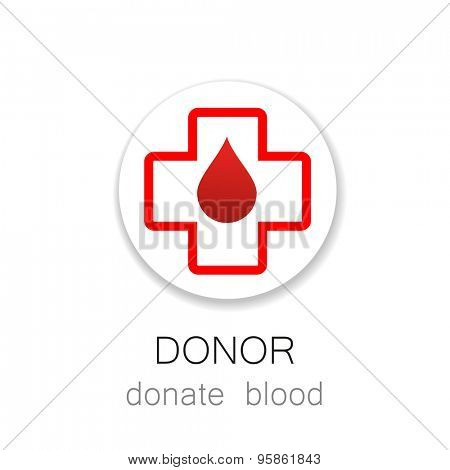 Donor - Donate blood. Template for design. Medicine Cardiology Donor Healthy concept icon. World blood donor day - 14 June. Heart and blood drop illustration.