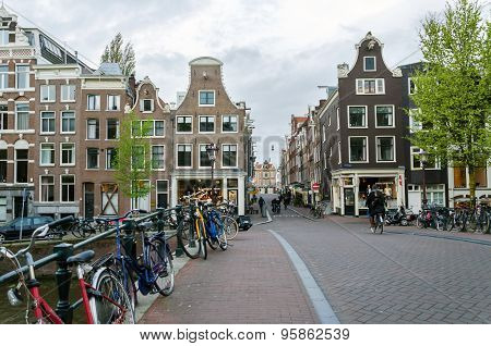 Amsterdam, Netherlands - May 7, 2015: Dutch People In The City Of Amsterdam