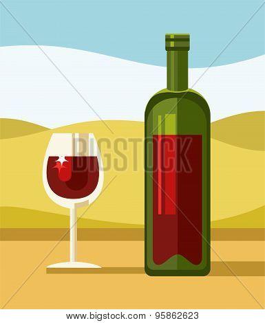 Red Wine, Green  Bottle, Clea...